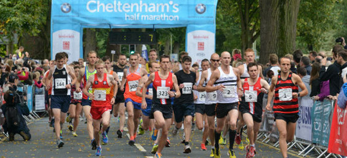Start of the Cheltenham Half Marathon