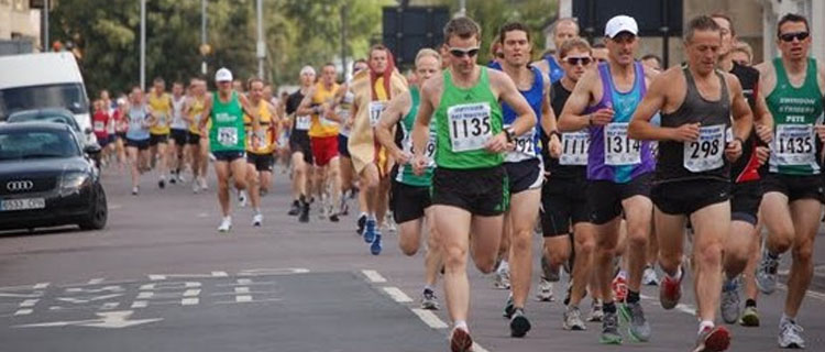 Runners tackling the course
