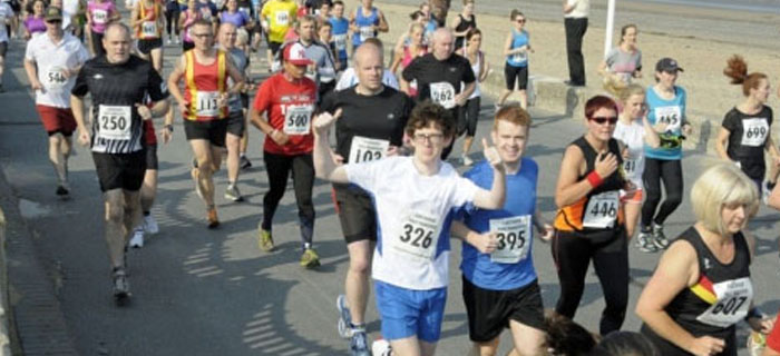 Runners at the Fleetwood Half Marathon