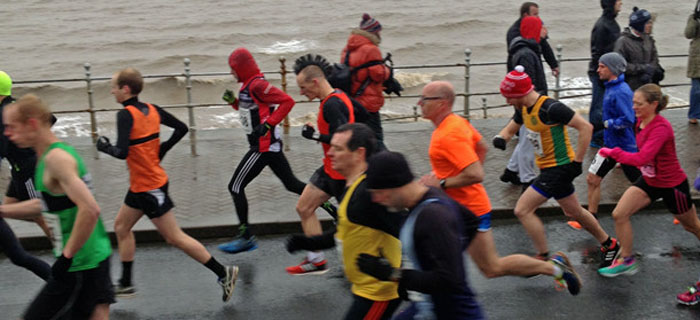 Runners at the Great North West half marathon