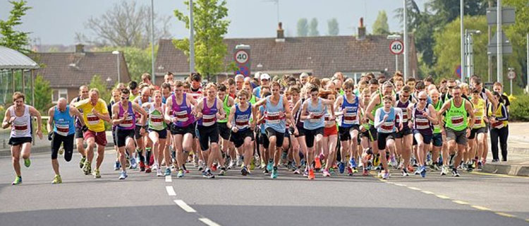 Start of the Northampton Half Marathon
