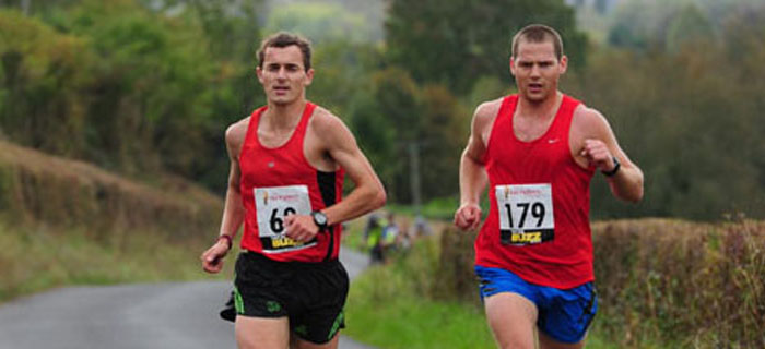 Runners tackling the Salisbury 5-4-3-2-1 course