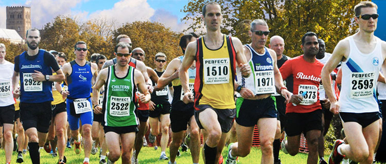 Start of the St. Albans Half Marathon