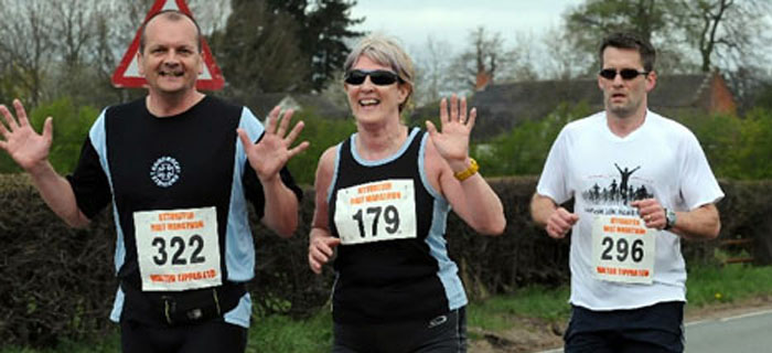 Runners on the Uttoxeter Half Marathon course